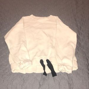 Zara fancy collection cream sweater